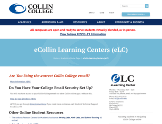 online.collin.edu screenshot