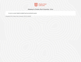 online.csu.edu.au screenshot