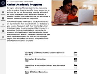 online.cune.edu screenshot