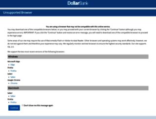 online.dollarbank.com screenshot