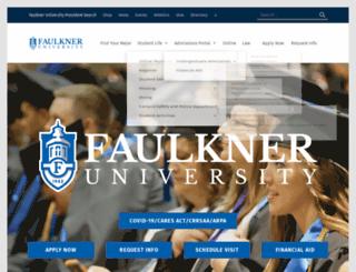 online.faulkner.edu screenshot