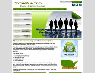 online.formsrus.com screenshot