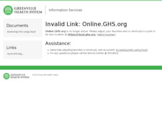 online.ghs.org screenshot