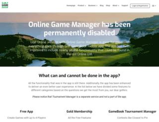 online.golfgamebook.com screenshot