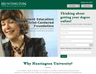 online.huntington.edu screenshot