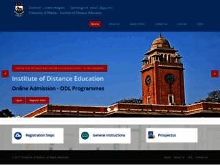 online.ideunom.ac.in screenshot