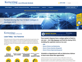 online.kettering.edu screenshot