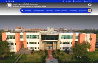 online.mnit.ac.in screenshot