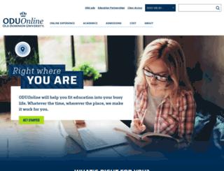 online.odu.edu screenshot