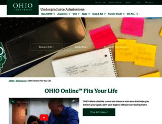 online.ohio.edu screenshot