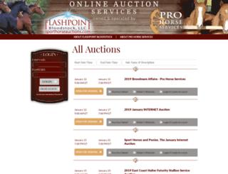 online.professionalauction.com screenshot