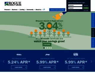 online.roguefcu.org screenshot