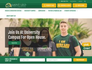 online.saintleo.edu screenshot