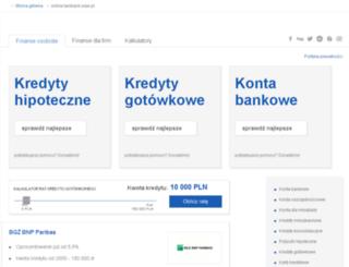 online.tanibank.waw.pl screenshot