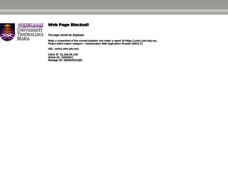 online.uitm.edu.my screenshot