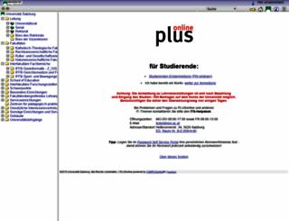online.uni-salzburg.at screenshot