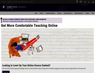 online.weber.edu screenshot