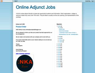 onlineadjunctjobs.blogspot.com screenshot