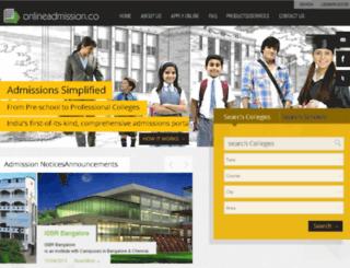 onlineadmission.co screenshot