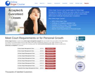 onlineangercourse.com screenshot