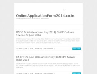 onlineapplicationform2014.co.in screenshot