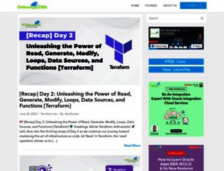 onlineappsdba.com screenshot