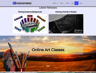 onlineartlessons.com screenshot
