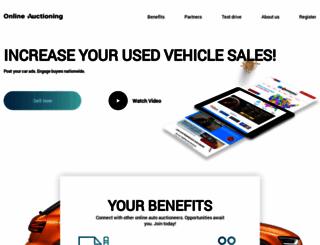 onlineauctioning.com screenshot