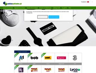 onlineaufladen.at screenshot