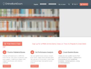 onlinebankexam.com screenshot