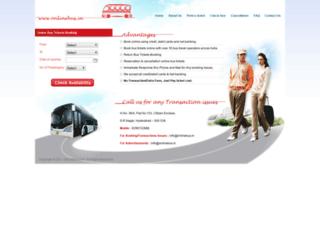 onlinebus.in screenshot