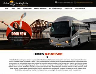 onlinebusbookingindia.com screenshot