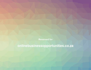 onlinebusinessopportunities.co.za screenshot