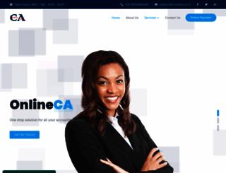 onlineca.co.in screenshot