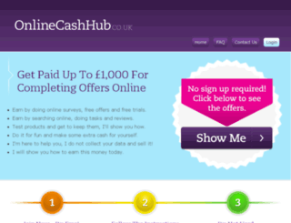 onlinecashhub.co.uk screenshot