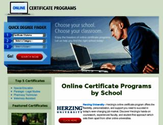 onlinecertificateprograms.org screenshot