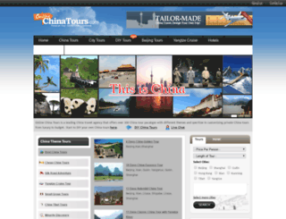 onlinechinatours.com screenshot