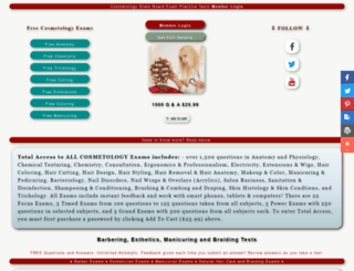 onlinecosmetologyexam.com screenshot