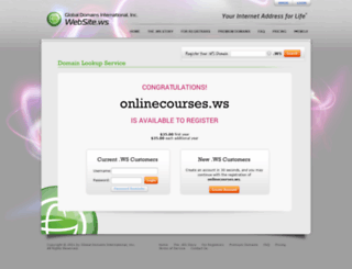onlinecourses.ws screenshot