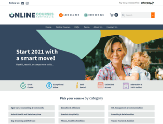 onlinecoursesaustralia.edu.au screenshot