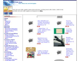 onlinecraftsstore.com screenshot