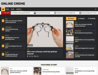 onlinecreme.nl screenshot