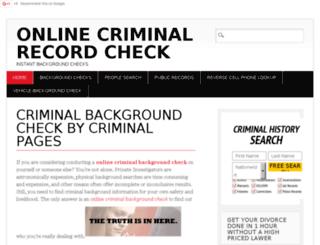 onlinecriminalrecordcheck.net screenshot