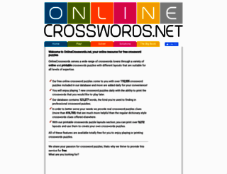 onlinecrosswords.net screenshot