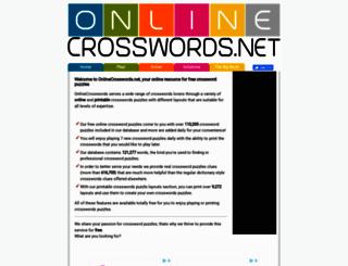 onlinecrosswords.net screenshot