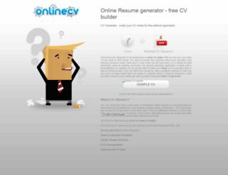 onlinecvgenerator.com screenshot