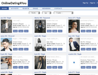 onlinedating4you.com screenshot