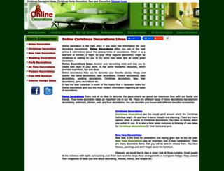 onlinedecorations.com screenshot