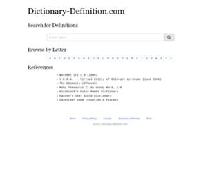 onlinedictionary.datasegment.com screenshot