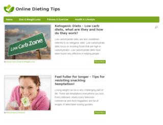 onlinedietingtips.com screenshot